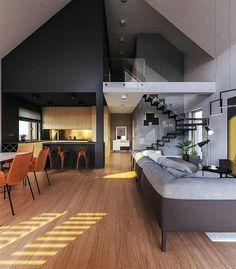 Zdjęcie projektu Murator M210 Jasna przestrzeń WAJ3695 Conference Room, New Homes, House, Furniture, Arches, Home Decor, Drawing Rooms, Bows, Homemade Home Decor
