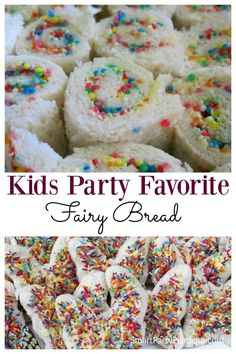 Fairy bread is an easy food that can be prepared for a kids party. It is incredibly easy to organize, the kids love it, and it will be a hit party food. This is a total win win when it comes to catering for childrens birthday parties.