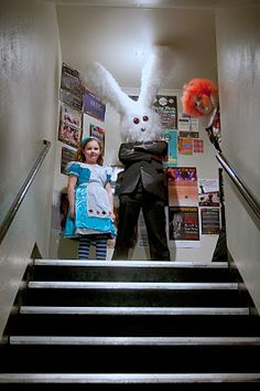 Our friend Chris and his amazing white rabbit head