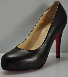 3f5b5fda04cb Black Louboutin Pumps Red Sole High Heels Simple