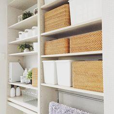 Instagram media by wagamichilife Muji Home, Dorm, Shelves, Organization, Shower, Interior Design, House, Laundry, Home Decor