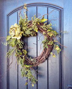 Spring Wreath Summer Wreath Fall Wreath by AnExtraordinaryGift