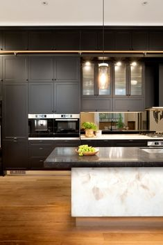 """The Block's best ever kitchen""  in polytec Thermolaminated Somersby door in Black Matt"