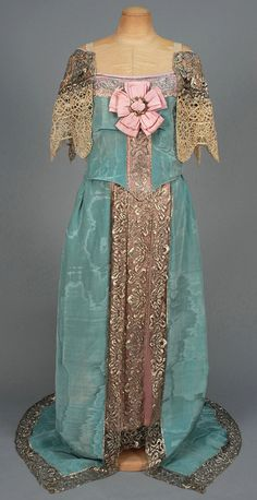 Evening Dress by Callot Soeurs, 1912, via Whitaker Auctions.