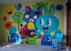 cool wall art in kids room