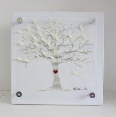 Wedding guest book tree