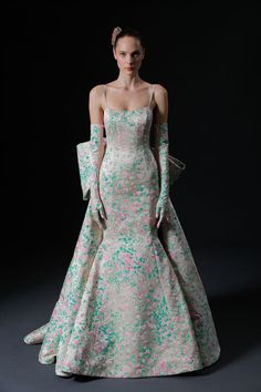 wedding gowns wedding dresses floral wedding gowns color bridal dress fit and flare wedding dress bows satin wedding gown bridal dress bridal gown bridal designer bridal collection Wedding Dress Trends, Wedding Dress Shopping, Colored Wedding Dresses, Bridal Wedding Dresses, Bridal Style, Floral Wedding, Wedding Ideas, Drop Waist Wedding Dress, Strapless Dress Formal