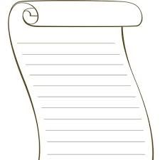 blank scroll template free printable activity blank scroll kids
