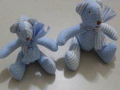 Ursos de Patchwork para decoração de quarto de bebe, aniversarios, etc