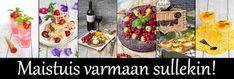 Maistuis varmaan sullekin!: Tonnikala-pastasalaatti Halloumi, Cafe House, Macarons, Food Inspiration, Art For Kids, Cherry, Food And Drink, Keto, Favorite Recipes