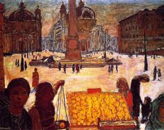 The People's Square in Rome Pierre Bonnard - 1921 (by BoFransson)