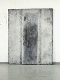 CHRISTIAN HETZEL devided blue grey 2016 - 150 x 120 cm - Mischtechnik auf Leinwand