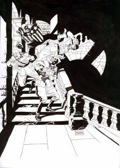 Captain America vs. Red Skull by Eduardo Risso *