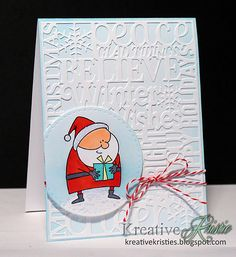 Hi everyone! Time for another Merry Monday Challenge. This week Sue challenges us to use Santa on our Christmas card. I just...