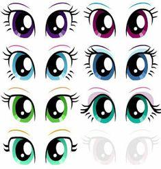 Risultati immagini per ojos de unicornio Cartoon Eyes, Cartoon Drawings, Unicorn Eyes, Doll Face Paint, Flower Pot People, Face Template, Eye Stickers, My Little Pony Party, Unicorn Cake Topper