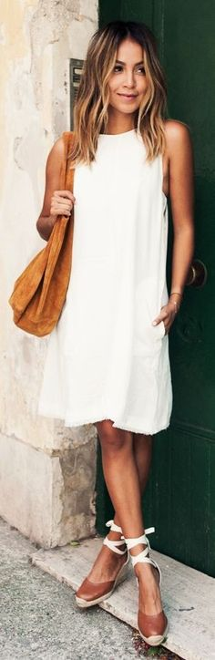 White Shift Dress by Sincerely Jules | @andwhatelse