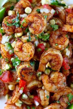 Frugal Food Items - How To Prepare Dinner And Luxuriate In Delightful Meals Without Having Shelling Out A Fortune Mexican Grilled Shrimp With Fresh Corn Salsa Grilling Recipes, Fish Recipes, Seafood Recipes, Dinner Recipes, Cooking Recipes, Healthy Recipes, Mexican Recipes, Appetizer Recipes, Recipies