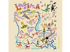 Louisiana art uses bright colors as vibrant as the spirit of the state!