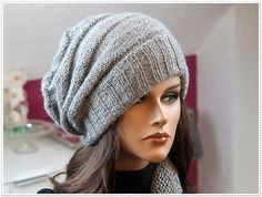Ravelry: Modern Slouchy Hat with Scarf/Loop Scarf pattern by Knitwork By Ina