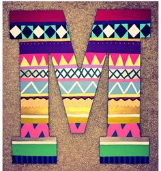 Tribal craft letters- once you figure out a name you could have people paint the first initial and make a collage out of that