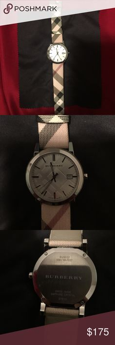 Burberry Watch Burberry watch in beautiful excellent condition! Has only been worn twice. Unfortunately, the packaging was lost in a move. Asides from that the watch is good to go! It traditional Burberry style. Great for those who was some preppy English flare in their style. Burberry Accessories Watches