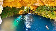 Wasserfall Salto del Usero in Bullas bei Murcia. Dieser Top Sehenswürdigkeit ist gut von Torrevieja zu erreichen. Ein natürliches Badeparadies.