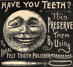 Vintage Ephemera: Advertisement for Ideal Felt Tooth Polisher circa 1883