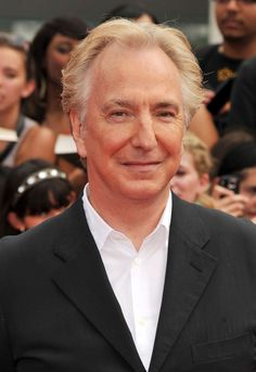 Alan Rickman | this looks like the Harry Potter DH2 premiere in summer 2011