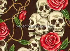 1/4 Sheet ~ Skulls and Roses and Thorns Birthday ~ Edible Image Cake/Cupcake Topper!!! ** New and awesome product awaits you, Read it now : : baking decorations