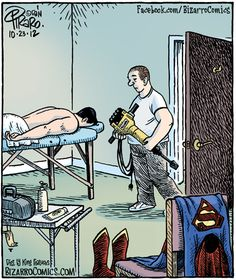 Jack Hammer, masseuse to the superheroes. #massage #laughs