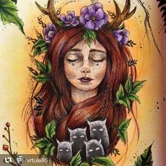 #repost @vrtule85 #karolinakubikowska #podrugiejstroniesnu #polychromos #coloringbookforadults #colouringbook #colortherapy #coloring #forestfairy #artterapy #relax Por gentileza coloque a #arte_e_colorir para aparecer no nosso grupo .E se quiser participar do nosso grupo no facebook procure Arte & Colorir Obrigada Please put the #arte_e_colorir to appear in our .And group if you want to join our group on facebook search Arte & Colorir thanks