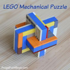 LEGO Mechanical Puzzle 1. STEM 2. 30 minutes 3. very small group 4. fun thing to show off!