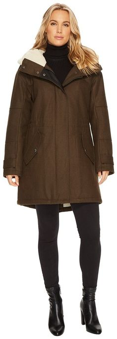 "Marc New York by Andrew Marc Rachelle 34"" Pressed Wool Coat"