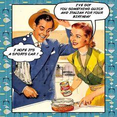 Retro Birthday Vintage Cards Funny Humor Vibes