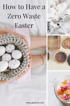 How to have a Zero Waste Easter and create a Zero Waste Easter basket #easter #zerowaste