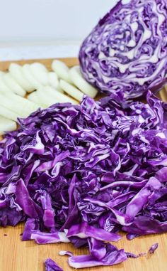 Chopped purple cabbage and onions get sautéed together for a delicious side dish. If you love cabbage, you've got to try this Southwest Sautéed Red Cabbage recipe for dinner. Quick Recipes, Veggie Recipes, Cooking Recipes, Purple Cabbage Recipes, Sauteed Red Cabbage, Bulk Food, Easy Food To Make, Kid Friendly Meals, Allrecipes
