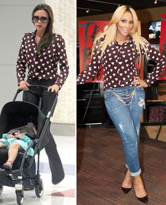 Who Wore it Better? Victoria Beckham vs. Tamar Braxton in Burberry Prorsum's Heart Print Fall 2013 Silk Shirt | The Fashion Bomb Blog : Celebrity Fashion, Fashion News, What To Wear, Runway Show ReviewsThe Fashion Bomb Blog : Celebrity Fashion, Fashion News, What To Wear, Runway Show Reviews