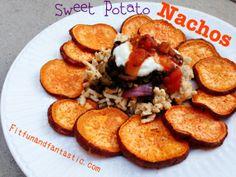 Sweet Potato Nachos with Ground Turkey
