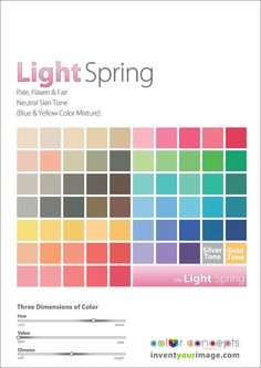 Colors for a Light Spring Women www.inventyourimage.com Copyright © 2011 No part of these materials may be  reproduced, distributed or transmitted in any form or by any means  unless prior written permission is given by  Lisa K. Ford- CEO and Founder of  Invent Your Image, LLC