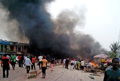 An explosion strikes one of the northeast Nigerian city of Gombe state yesterday everning near a bus station. this explosion claims five. Eid Prayer, Car Bomb, Boko Haram, Central City, International News, A Team, At Least, Places To Visit, Around The Worlds