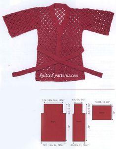 Free Crochet Kimono Pattern