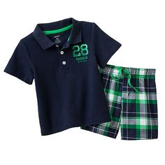 Carter's Polo and Plaid Shorts Set