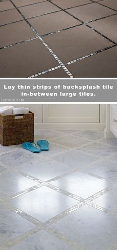 Beautiful and creative tile ideas for kitchen back splashes master bathrooms small bathrooms patios tub surrounds or any room of the house! Beautiful and creati New Homes, Creative Tile, Small Bathroom, Bathrooms Remodel, Bath Remodel, Home Remodeling, Home Diy, Tub Surround, Home Deco