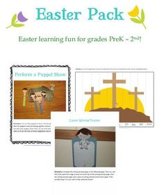Free Easter Printable Pack for PreK-2nd Grade (27-Pages)!