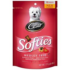 CESAR SOFTIES Medley Trio Dog Treats  67 oz 70 Treats Pack of 8 * Want additional info? Click on the image.
