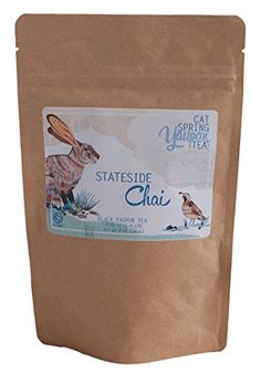 Cat Spring Tea  Stateside Chai Black Yaupon Tea Blend with Rooibos and Fresh Spices  Loose Leaf  Naturally Caffeinated With Yaupon Tea Grown and Harvest in the USA 1 oz ** Visit the image link more details.