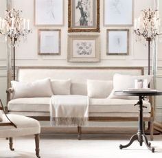 restoration hardware living room decorating ideas for rectangular 84 best livingroom images house beautiful i need this sofa formal