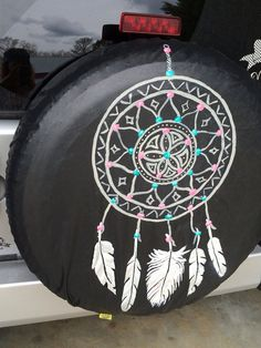 Hand painted spare tire cover... made to by kateskraftsandgifts