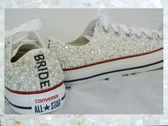 Luxury pearl sparklers / All over converse / Bridal by CindersWish, £135.00
