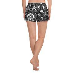 (1) Marbled Women's Shorts, Black Marbled Print Ladies Athletic Short Runn – Heidi Kimura Art LLC Women's Shorts, Boho Shorts, Women's Athletic Shorts, Running Pants, Athletic Women, Running Women, Printed Shorts, Print Design, Plus Size